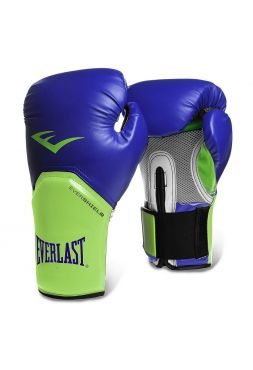 Боксерские перчатки Everlast PRO STYLE ELITE сине-зеленые