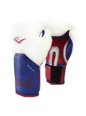 Боксерские перчатки Everlast PRO STYLE ELITE бело-синие