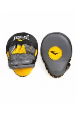 Лапы для бокса изогнутые Everlast MANTIS PUNCH MI черно-желтые