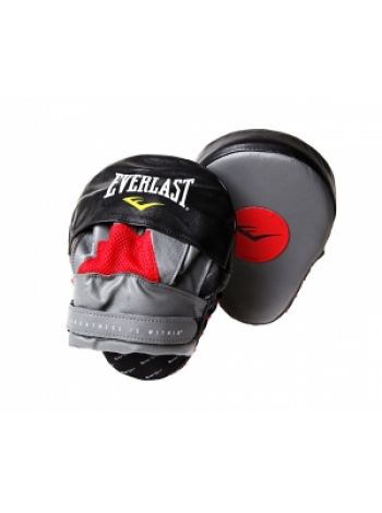 Лапы для бокса изогнутые Everlast MANTIS PUNCH MI красно-черные
