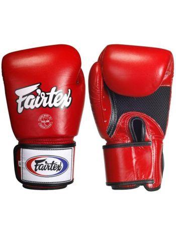Перчатки для бокса FAIRTEX BGV1 красные с сеткой