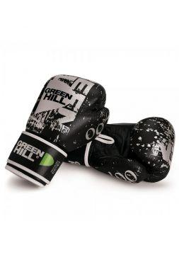 Боксерские перчатки GREENHILL BOXING GLOVES 007 LEATHER черные