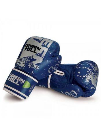 Боксерские перчатки GREENHILL BOXING GLOVES 007 LEATHER синие