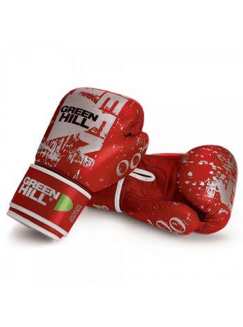 Боксерские перчатки GREENHILL BOXING GLOVES 007 LEATHER красные