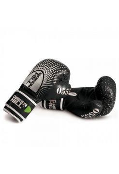Боксерские перчатки GREENHILL BOXING GLOVES 0555 LEATHER черные
