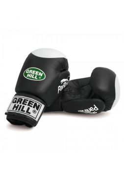 Боксерские перчатки Green Hill BOXING GLOVES PANTHER WITH TARGET черные
