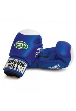 Боксерские перчатки Green Hill BOXING GLOVES PANTHER WITH TARGET синие