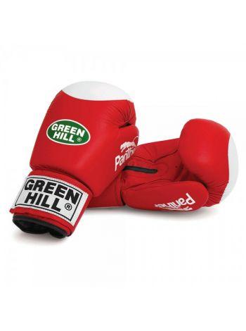 Боксерские перчатки Green Hill BOXING GLOVES PANTHER WITH TARGET красные