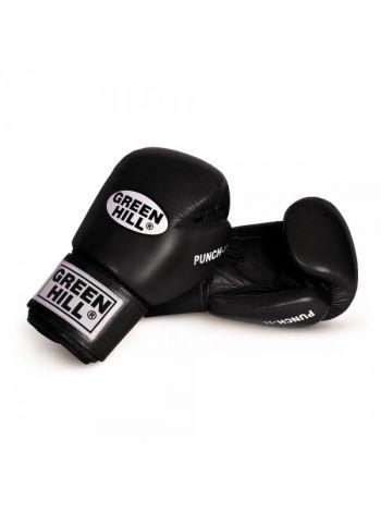 Боксерские перчатки GREENHILL BLACK PUNCH II 10OZ черные