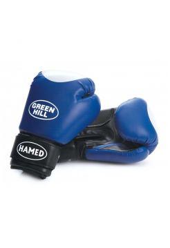 Боксерские перчатки Green Hill BOXING GLOVES HAMED WITH TARGET синие