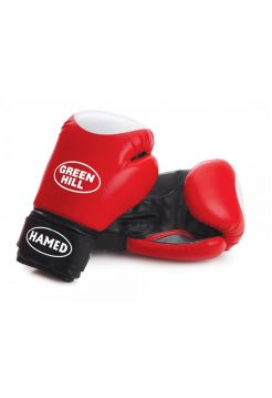 Боксерские перчатки Green Hill BOXING GLOVES HAMED WITH TARGET красные