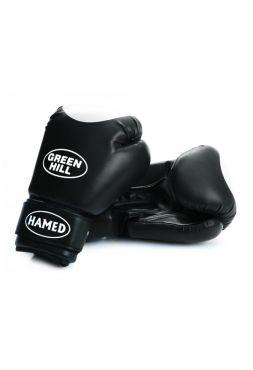 Боксерские перчатки Green Hill BOXING GLOVES HAMED WITH TARGET черные