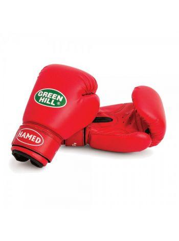 Боксерские перчатки Green Hill BOXING GLOVES HAMED красные