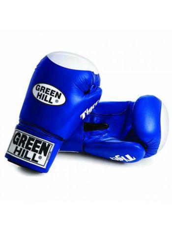 Боксерские перчатки Green Hill BOXING GLOVES TIGER WITH TARGET синие
