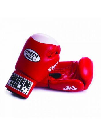 Боксерские перчатки Green Hill BOXING GLOVES TIGER WITH TARGET красные
