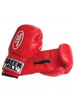 Боксерские перчатки GREEN HILL BOXING GLOVES ZEES красные