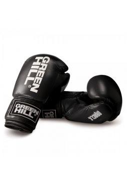 Боксерские перчатки GREENHILL ORACLE BOXING GLOVES REX LEATHER черные