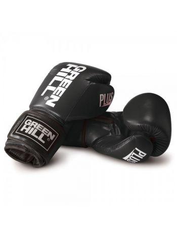 Боксерские перчатки GREENHILL PLUS BOXING GLOVES REX LEATHER черные