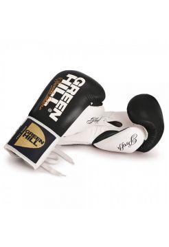 Боксерские перчатки GREEN HILL BOXING GLOVES PROFFI NEW черные