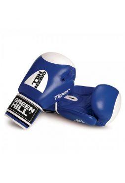 Боксерские перчатки Green Hill TIGER WITH TARGET синие