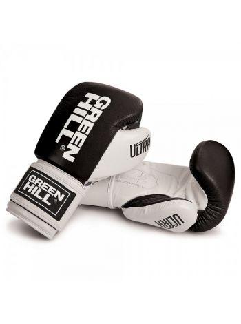 Боксерские перчатки GREENHILL BOXING GLOVE ULTRA черно-белые