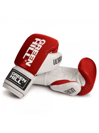 Боксерские перчатки GREENHILL BOXING GLOVE ULTRA красно-белые