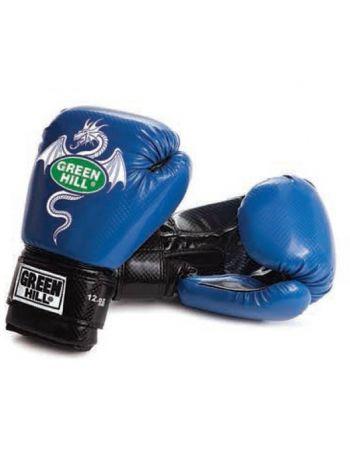 Боксерские перчатки Green Hill BOXING GLOVES DRAGON синие