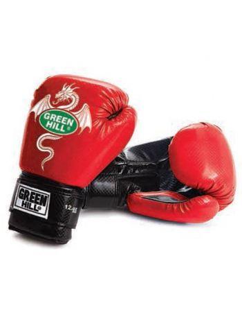 Боксерские перчатки Green Hill BOXING GLOVES DRAGON красные