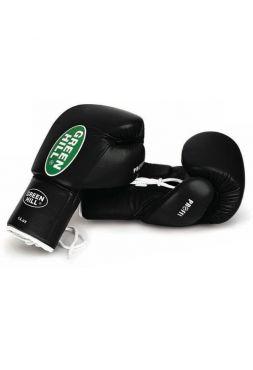 Боксерские перчатки GREEN HILL BOXING GLOVES PROFFI черные