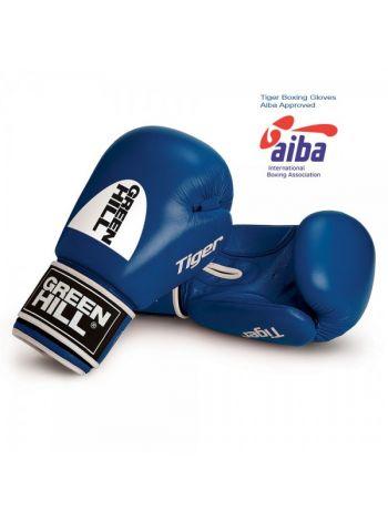 Боксерские перчатки GREEN HILL AIBA TIGER синие