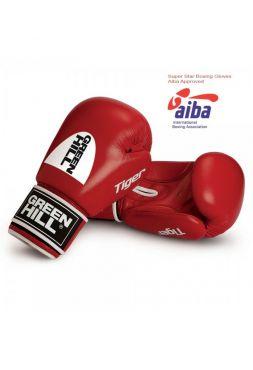 Боксерские перчатки GREEN HILL AIBA TIGER красные