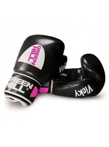 Боксерские перчатки Green Hill BOXING GLOVES VICKY черные