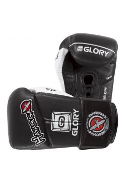 Боксерские перчатки Hayabusa Glory V-Lace черные