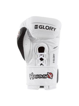 Боксерские перчатки Hayabusa Glory V-Lace белые