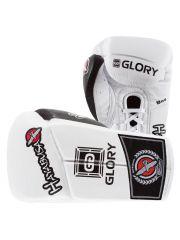 Боксерские перчатки Hayabusa Glory белые на шнуровке