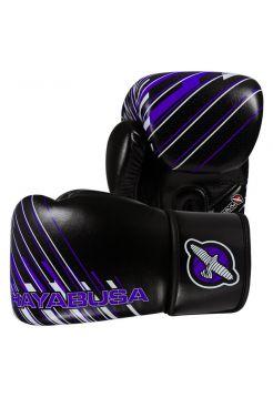Боксерские перчатки Hayabusa Ikusa Charged черно-фиолетовые