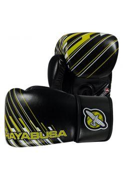 Перчатки для бокса Hayabusa Ikusa Charged черно-зеленые