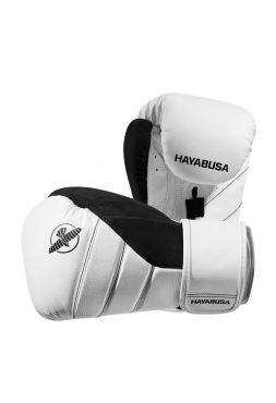 Боксерские перчатки Hayabusa T3 бело-черные