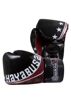 Боксерские перчатки Hayabusa Pro Muay Thai черные на шнуровке