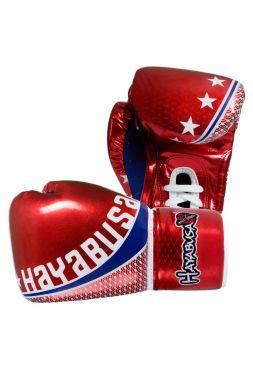 Боксерские перчатки Hayabusa Pro Muay Thai красные на шнуровке