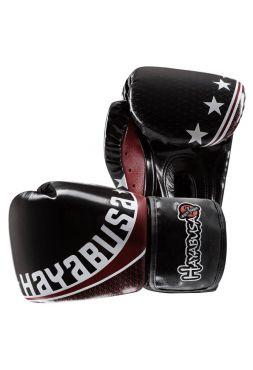 Боксерские перчатки Hayabusa Pro Muay Thai черные на липучках