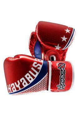 Боксерские перчатки Hayabusa Pro Muay Thai красные на липучках