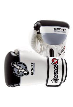 Боксерские перчатки Hayabusa Sport черно-белые