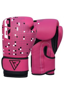 Боксерские перчатки детские RDX DINO розовые