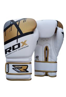 Боксерские перчатки детские RDX EGO бело-золотые