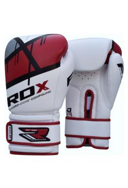 Боксерские перчатки детские RDX EGO бело-красные