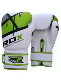 Боксерские перчатки детские RDX EGO бело-зеленые
