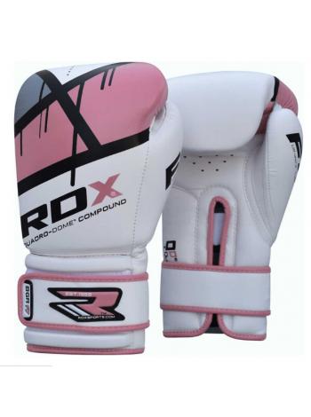 Боксерские перчатки детские RDX EGO бело-розовые