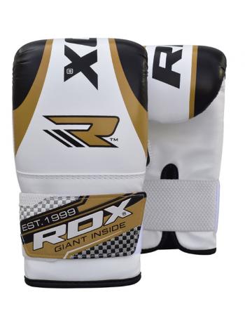 Снарядные перчатки детские RDX бело-золотые