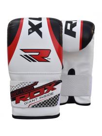 Снарядные перчатки детские RDX бело-красные